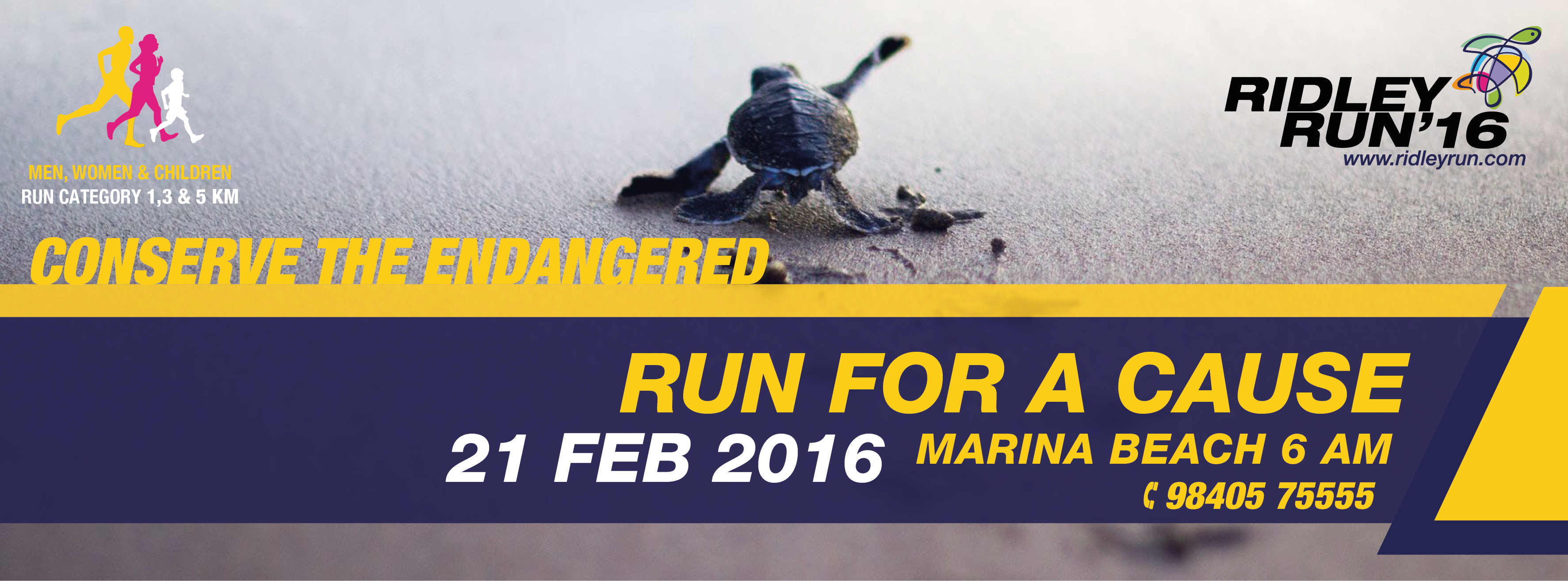 Book Online Tickets for Ridley Run, Chennai. ·         The Ridley Run is aimed at creating awareness of the endangered Olive Ridley Turtles