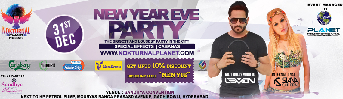 Nokturnal Planet-NYE16 At Sandhya Convention