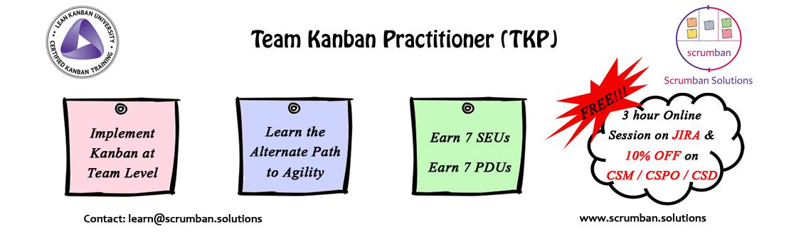 LKU Certified Team Kanban Practitioner | Pune | 9 Jan 2016