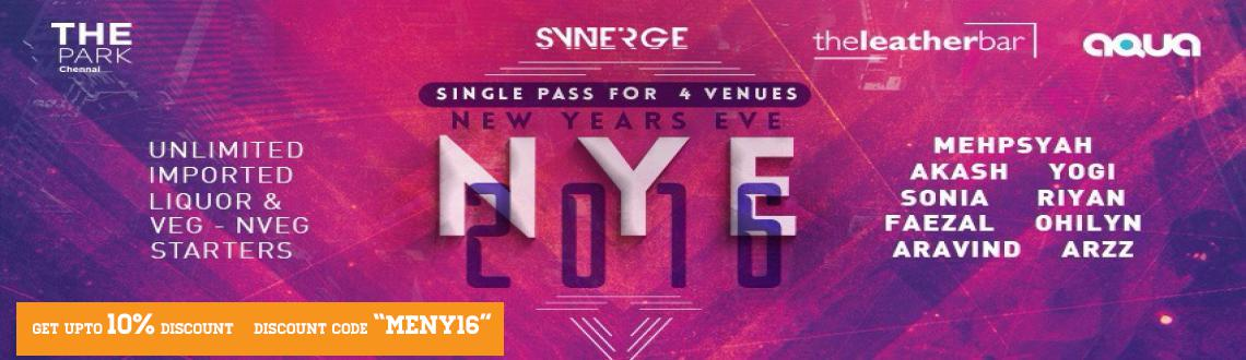 Book Online Tickets for New Year Eve 2016 at THE PARK, Chennai. Let Celebrate This New Year 2016 At The Park Hotel. Why To Party At 1 Venue and Pay so much Money?   