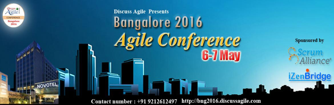 Book Online Tickets for DiscussAgile Conference - Bangalore, Bengaluru. The Discuss Agile is a community run event sponsored and supported by Scrum Alliance and iZenBridge. Discuss Agile is among the most popular Agile communities in India; we host regular events, both offline and online, focused on discussing Agile, scr