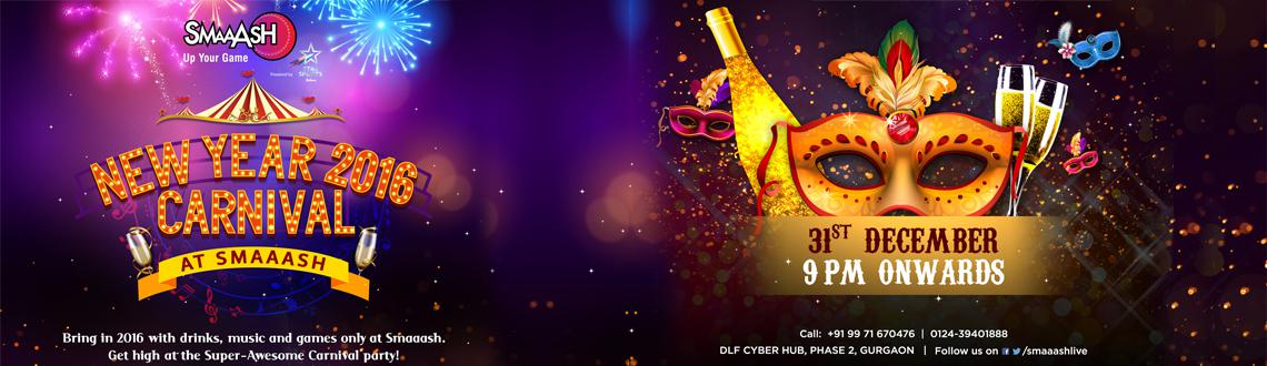 Book Online Tickets for NYE Blast at SMAAASH Cyberhub Gurgaon, Gurugram. Welcome to the New Year Carnival at Smaaash, CyberHub Gurgaon where magic happens with every new beginning. Ring in the New Year with SMAAASH Gurgaon\\\'s amazing packages and offers. An incredible deal with a line-up of innovative gam