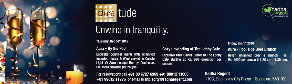 Book Online Tickets for Poolside Beer Brunch, Bengaluru. Aura Laidback Beer Brunch - In Russia they drink beer as a cure to hangover. Join us at a refreshning brunch with unlimted beers at the pooldeck on 1st Jan\\\'16. The chefs special menu would ensure a refreshing experience on your first meal of the y