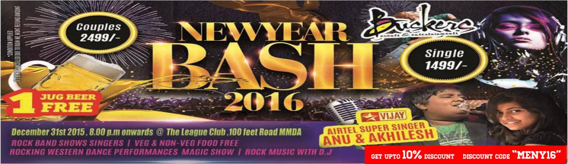 Buskers NYE Bash 2016 at The League Club