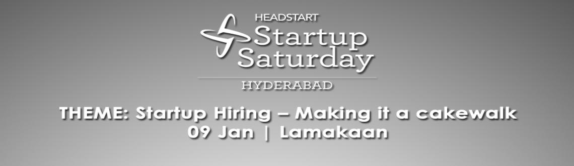 Book Online Tickets for Startup Saturday Hyderabad - January Edi, Hyderabad. Theme - \\\