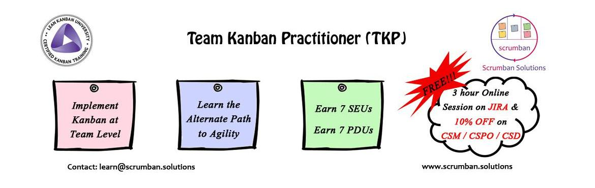 LKU Certified Team Kanban Practitioner | Bangalore | 4 March 2016
