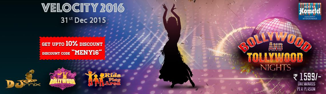 Book Online Tickets for Velocity 2016 - Bollywood  Tollywood at , Hyderabad. Velocity 2016 - Bollywood & Tollywood at Aditya Hometel - Come join us for a memorable evening as our guest DJ will spin some commercial EDM, Bollywood and tollywood all evening. Special Performing artists will keep your sprit high through the ev