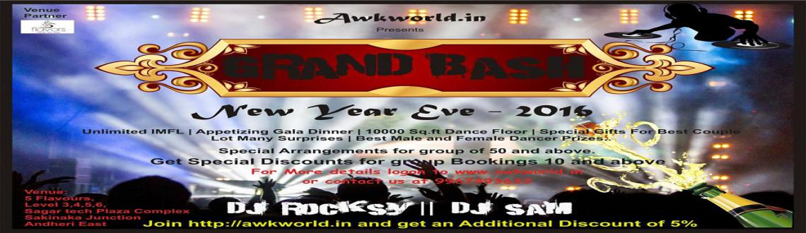 GRAND BASH NEW YEAR EVE 2016