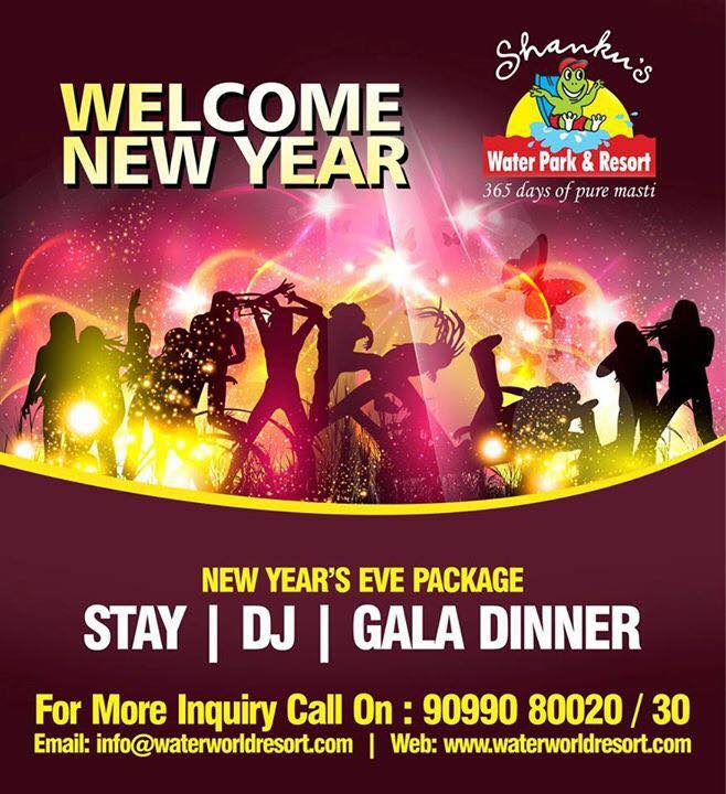 Book Online Tickets for Moon Mantra, Hyderabad. Shanku\\\'s Water Park & Resort invite for event WELCOME NEW YEAR - STAY, DJ and GALA DINNER.