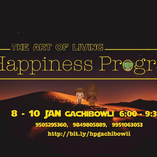 Book Online Tickets for The Art of living Happiness Program, Hyderabad. 