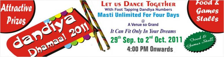 Book Online Tickets for Dandiya Dhamaal 2011 @ Mannat Farms, Del, Ghaziabad. 
