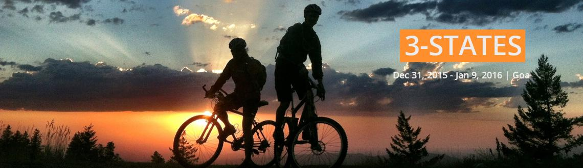 Book Online Tickets for 3-States, Panjim. 3-States is a 400KM self supported UCAI ride starting and ending at Panjim and passing through Goa - Maharashtra(north) - Karnataka(south). This ride needs to be completed in under 27hours. This ride takes you through fields, forest areas, sea facing