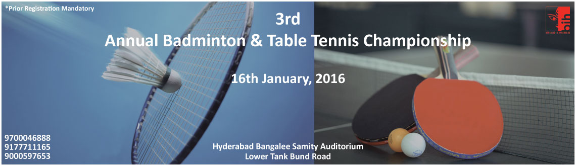 3rd Annual Badminton and Table Tennis Championship