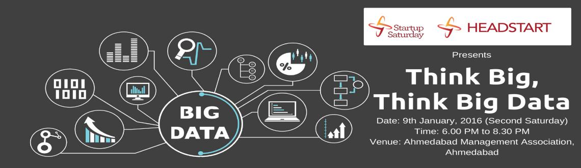 Book Online Tickets for Think Big, Think Big Data, Ahmedabad. Data creation is exploding. 92% of the world's data was created in the last two years. Media consumption is growing at an unprecedented rate. That means there's even more potential to glean key insights from business information – y