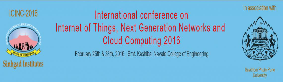 ICINC-2016 is an international conference broadly addressing Internet of Things, Next generation networks and cloud computing.