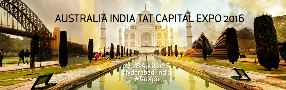 Book Online Tickets for TatXpo - Australia-India Tat Capital Exp, Hyderabad. TatXpo will bring together CEOs, innovators, investors and thought leaders from Australia and India to forge new commercial partnerships and strengthen economic ties between these two great countries. Leading Australian growth and early-stage compani