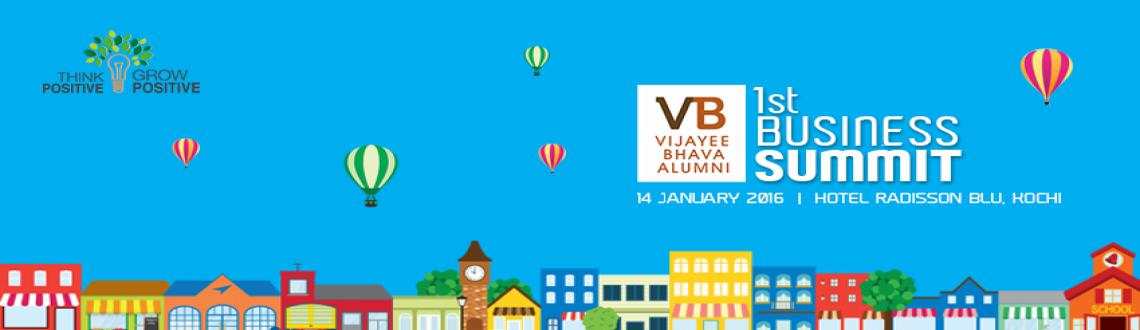 Book Online Tickets for Vijayee Bhava Alumni Business Summit, Ernakulam. The Vijayee Bhava Alumni Business Summit is a confluence of entreprenouers, professionals or anybody who wishes to be one of those crazy rebels who will change the world, start his own business or fund a business and become a trend-setter.