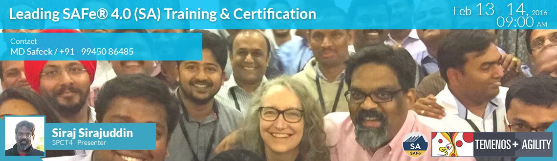 Book Online Tickets for Leading SAFe 4.0(SAFe Agilist) Training , Bengaluru. Leading SAFe® 4.0 Training and Certification