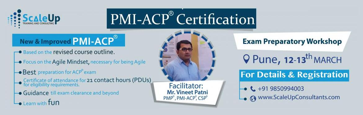 PMI-ACP (Agile Certified Practitioner) training, Pune (12-13 Mar 2016)
