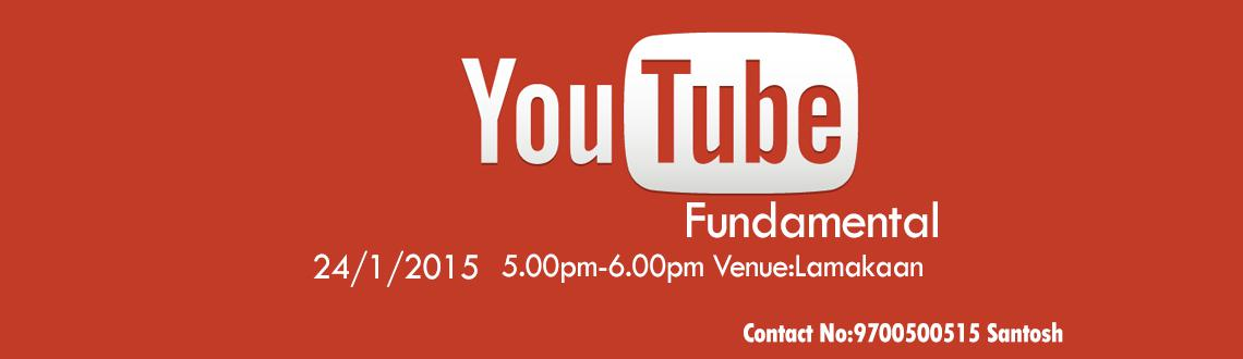 Book Online Tickets for YouTube  Fundamentals, Hyderabad. Are you looking to start your own Youtube channel?Have every wondered how people make money on youtube?Do you want to build you Brand online?Do you want to use Youtube as medium to promote your Brand then this session would be eye opener. you will le