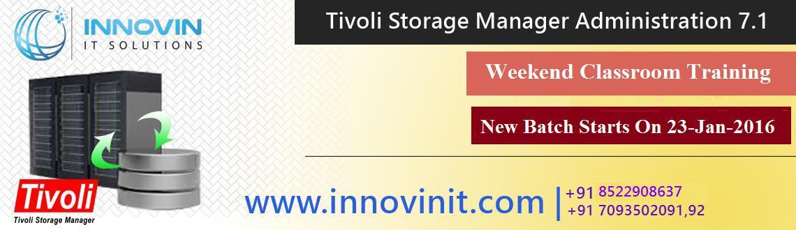 "Book Online Tickets for IBM Tivoli Storage Manager Certification, Hyderabad. IBM Tivoli Storage Manager Certification Training in Hyderabad | IBM Tivoli  Storage Manager Classroom Training in Hyderabad Starts on 23-January-2016   ""InnovinIT Solutions is providing IBM TIVOLI STORAGE MANAGER c"