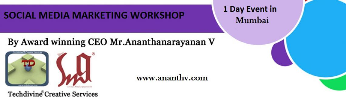 Social media marketing workshop by Ananth V in Mumbai.