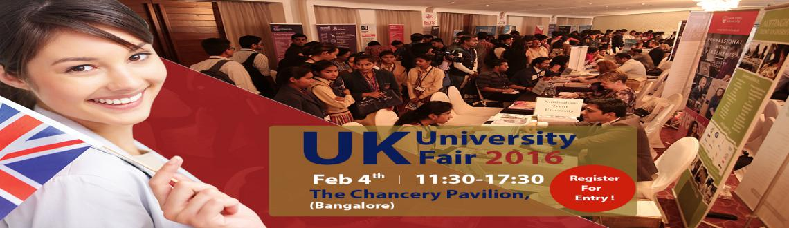 Book Online Tickets for SI-UKs Exclusive UK University Education, Bengaluru. SI-UK Education Council is hosting the India\\'s largest Exclusive UK University Fair in Bangalore 2016.