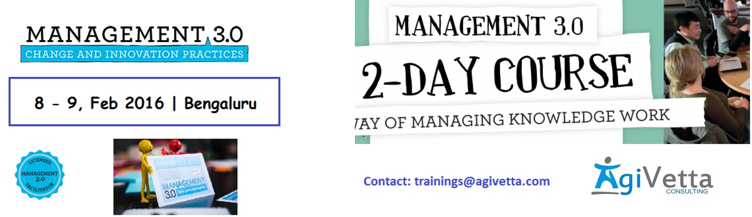 Agile Management 3.0 Workshop; 8-9 Feb. Bengaluru