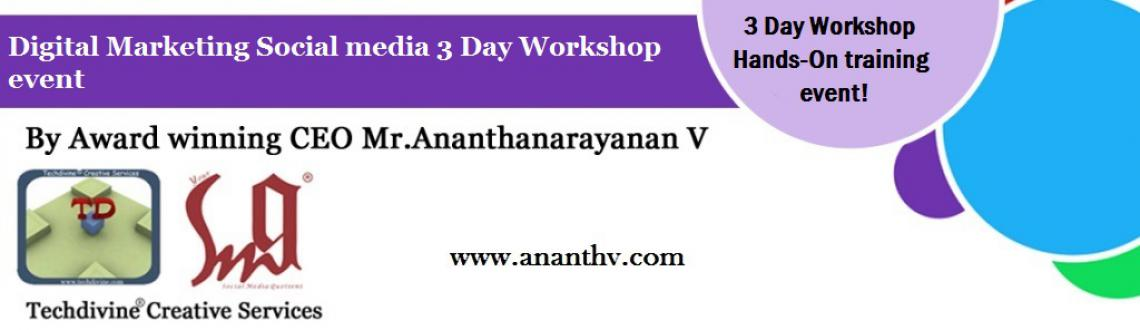 This is a 3 day intensive hands-on training workshop on Digital marketing and social media conducted by an award winning CEO, Mr.Ananth V in Mumbai.