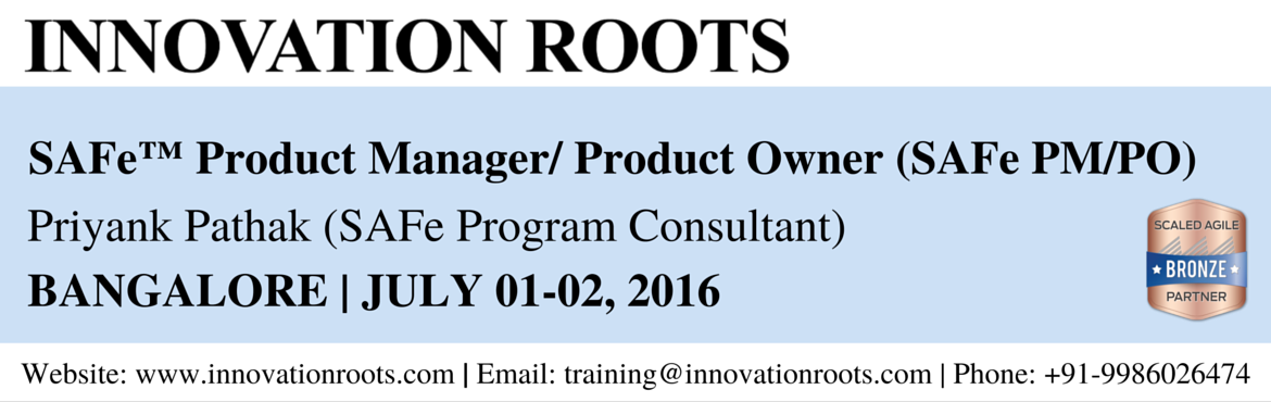 Book Online Tickets for SAFe Product Manager/Product Owner Certi, Bengaluru. Overview The Product Owner/ Product Manager Certification program is for executives, product managers, product owners, consultants, lean|agile leaders, and agile change agents. It consists of an overview of the Scaled Agile Framework ™, trainin