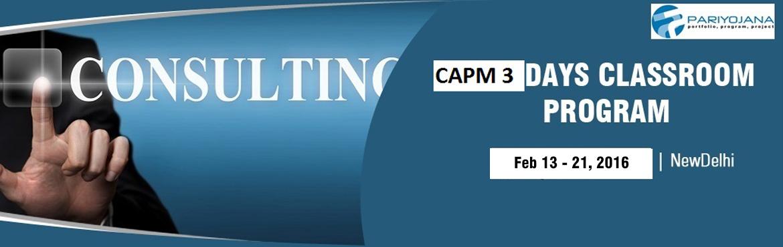 CAPM DELHI 2016CLASSROOM TRNG 3 DAYS