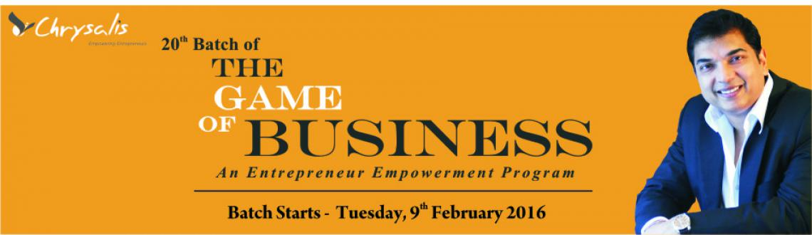 The Game of Business- An Entrepreneur Empowerment Program