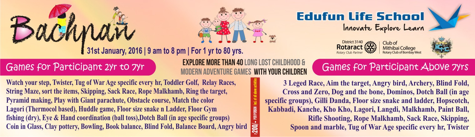 Book Online Tickets for Edufun Life School - Bachpan, Mumbai. Edufun Life School announces \\\