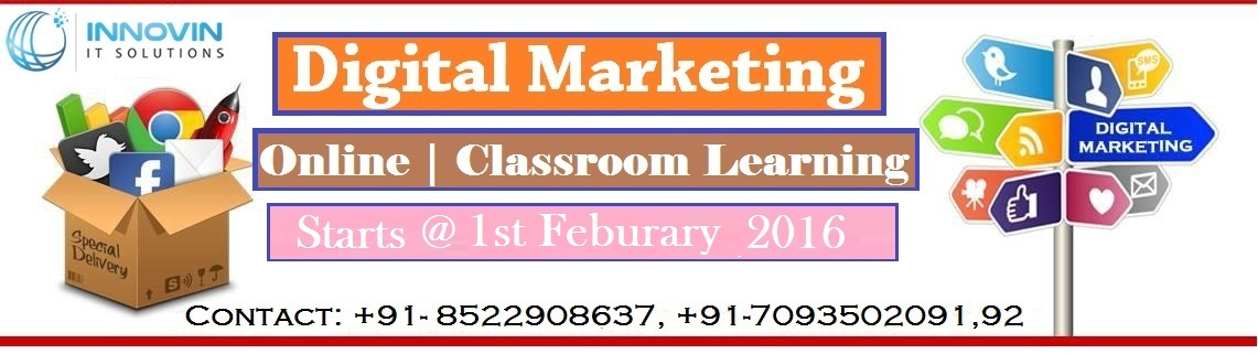 Digital Marketing Classroom Training @ Kphb Colony Hyderabad