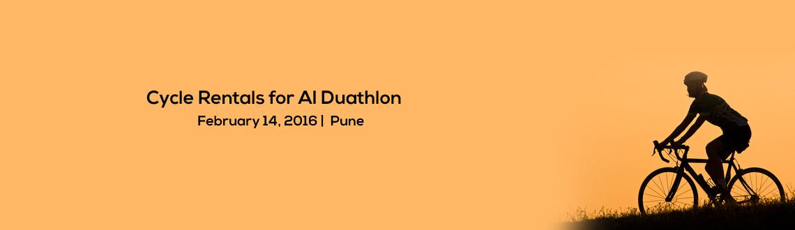 Book Online Tickets for Cycle Rentals for AI Duathlon, Pune. Sunday February 14th, 2016. Blueridge, Hinjewadi. Pune
