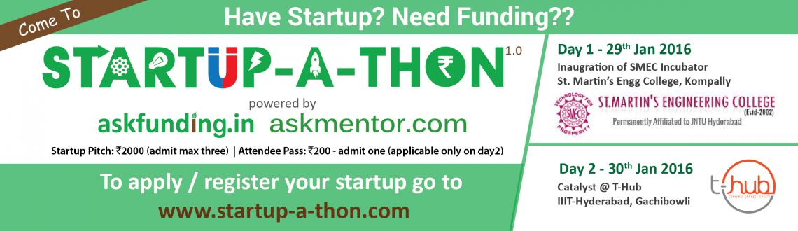 Book Online Tickets for Startup-A-Thon, Hyderabad. askfunding.in & askmentor.com is organizing a two-day \\\