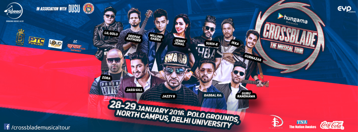 Book Online Tickets for Indulge in the Music Madness with Editio, NewDelhi. The biggest and the most spectacular Punjabi musical tour, Crossblade is back with a bang with its Edition 7, to be held in Delhi. The two day musical evening is scheduled on 28th and 29th January, 2016 at Polo Grounds, North Campus, Delhi University