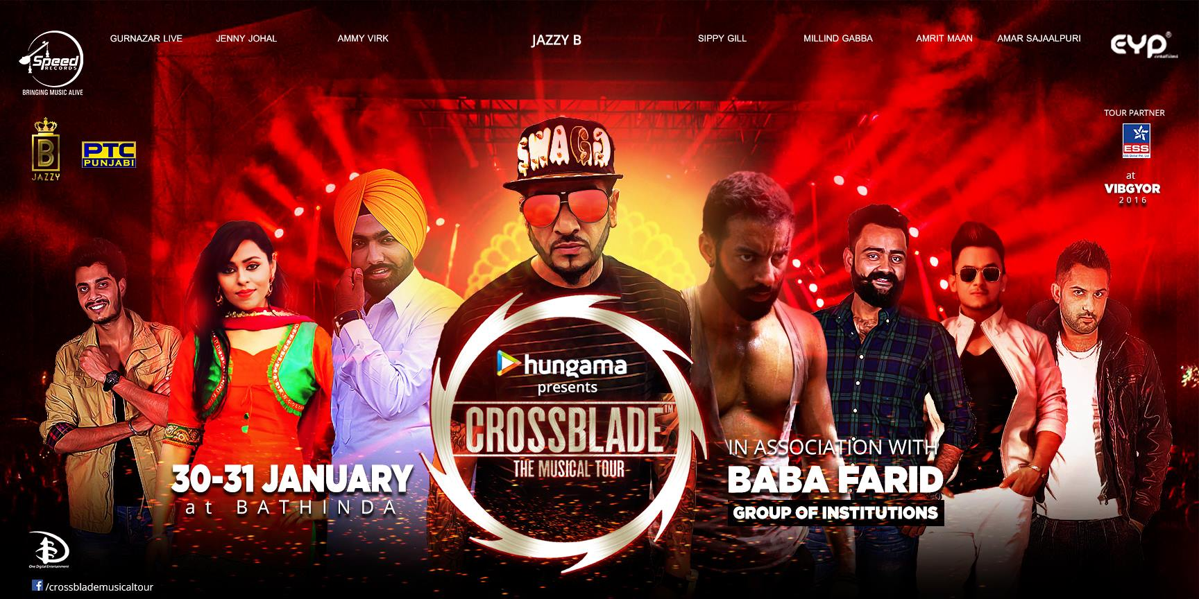 Be a part of CROSSBLADE- The Musical Tour EDITION-8 in BATHINDA
