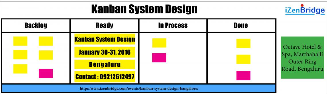 "Book Online Tickets for Kanban System Design (KMP1) in Bangalore, Bengaluru. ""Kanban System Design"" is a 2-day beginner to intermediate level course that begins with a detailed introduction to Kanban Method and moves on to share the STATIK approach – a powerful idea that facilitates a 'service-orientat"