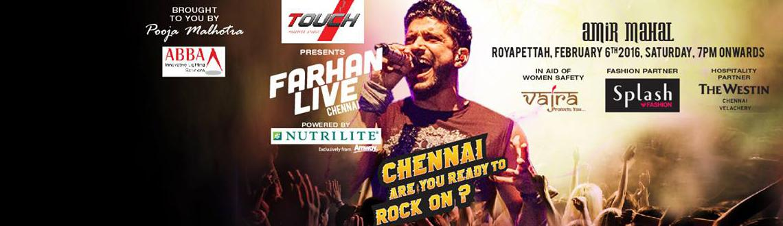 Book Online Tickets for Farhan Akthar Live , Chennai.                                                           Farhan Akthar Live.