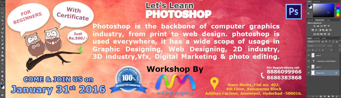 Lets Learn Photoshop (Certification Course)