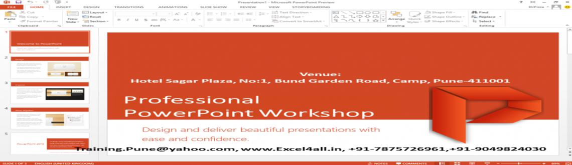 Professional PowerPoint Workshop on weekend