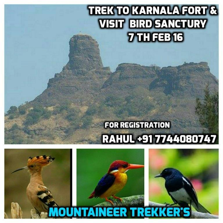 Book Online Tickets for Trek to Karnala Fort  visit Karnala bird, Pune. Trek to Karnala Fort & visit Karnala bird sanctuary on 7 th Feb 16