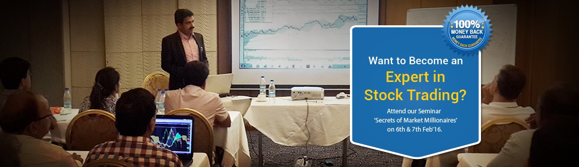 Book Online Tickets for Secrets of Market Millionaires - Stock T, Thane. If you wish to become a PRO in Stock Trading and want to learn the secrets of those Market Millionaires ruling the market, then this chance is for you. This two day seminar will be filled with fun and practical works too. This seminar will let you ha