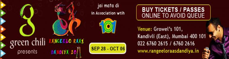 RANGEELO RAAS DANDIYA - 2011 @ Mumbai from Sep 28th to Oct 6th 2011