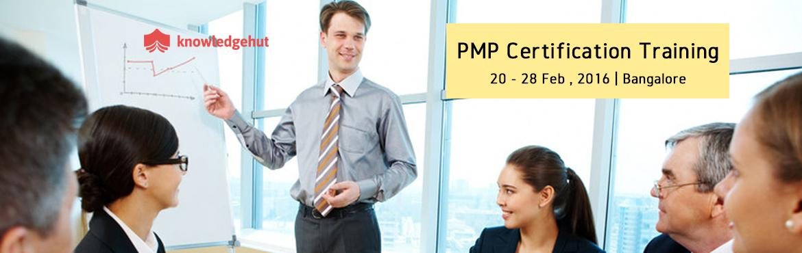 Book Online Tickets for PMP Certification Training Course in Ban, Bengaluru. PMP® Certification Training Course in Bangalore http://www.knowledgehut.com/project-management/pmp-certification-training-bangalore   Course Overview: Project Management Professional (PMP)® certification is the most distinguished profess