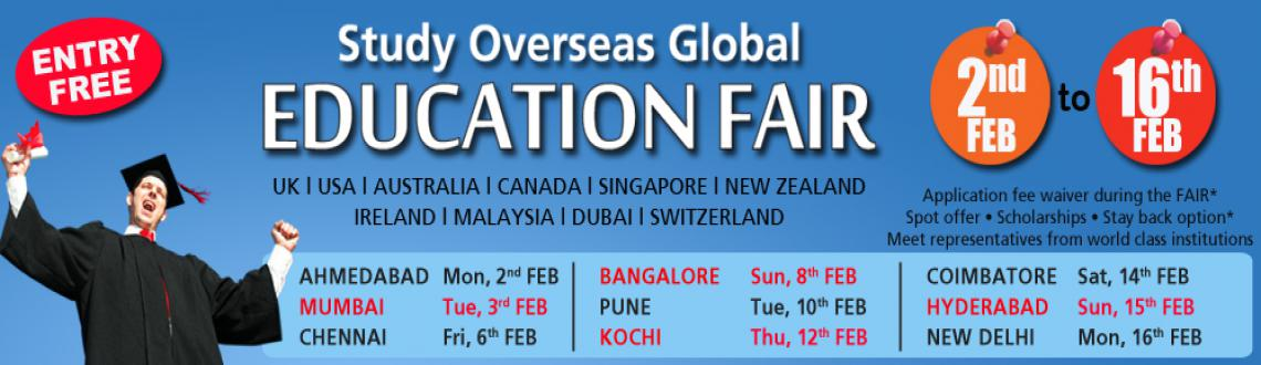 Book Online Tickets for Study Overseas Global Education Fair Che, Chennai. My Education Fair offers the best chance to study in top International Universities in UK, USA, Australia, Singapore, Dubai, Malaysia, Newzealand, Ireland etc. We hosts education fairs to provides the skills students with a great platform to interact