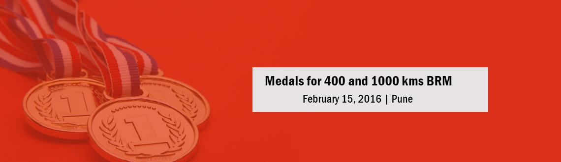 Medals for 400 and 1000 kms BRM - 29th Jan 2016
