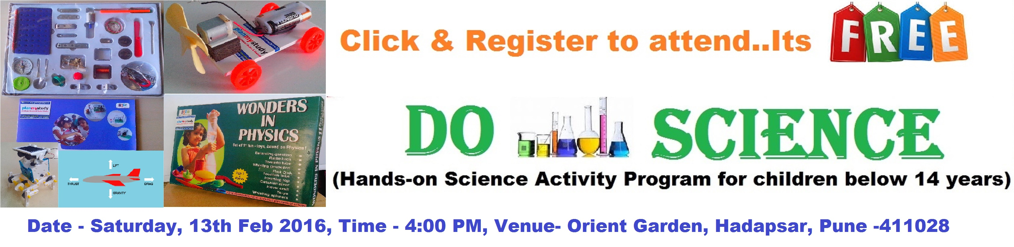 Do-Science, Free Hands-on Science Activity Program for children below 14 years