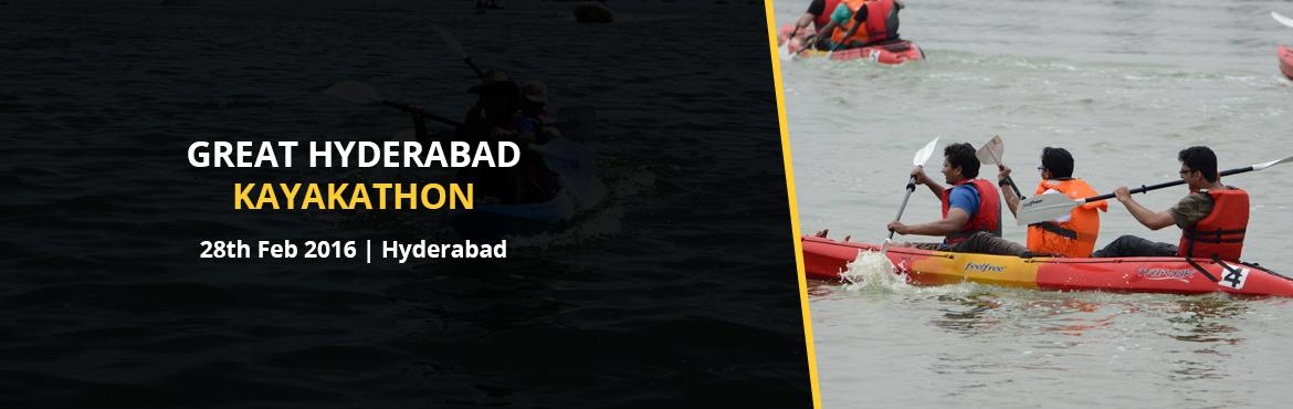 Book Online Tickets for GREAT HYDERABAD KAYAKATHON @ Just 900/- , Hyderabad. THE MUCH POPULAR KAYAKATHON RETURNS   The 2nd Hyderabad Kayakathon is being hosted by Yacht Club of Hyderabad in association with Great Hyderabad Adventure Club . Lots of Prizes to be won :-)   Enjoy a fun filled Sunday morning, learn a bit